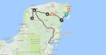 yucatan-peninsula-road-map